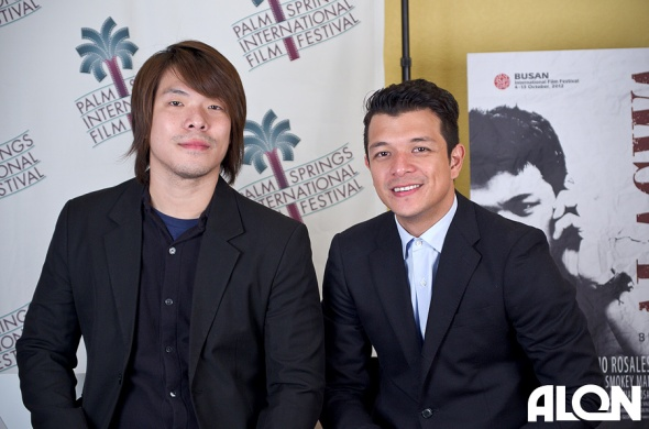 Director Ian Lorenos and Producer / Actor Jericho Rosales at the PSIFF 2013